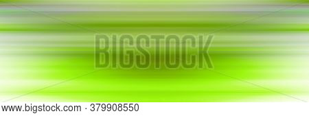 Digital illustration. Abstract strip line de-focus soft horizontal background. Saturated green color.