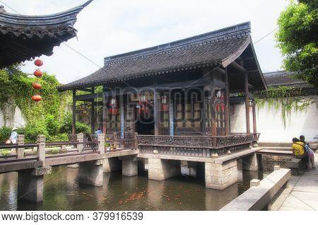 Shaoxing, China.  August 26, 2016. The Famous Birthplace Of Lu Xun In Shaoxing China In Zhejiang Pro