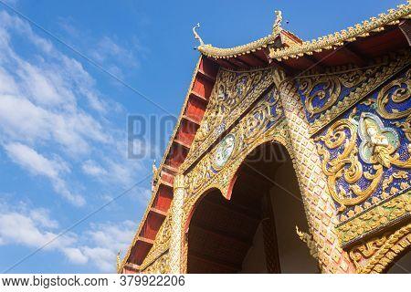 Phayao, Thailand - Dec 31, 2019: Thai Church Of Wat Phra Nang Din Or Phra Nang Din Temple At Chiang