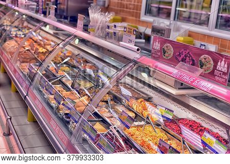 Russia, St. Petersburg 15,03,2015 Culinary Department With Ready-made Dishes In The Store
