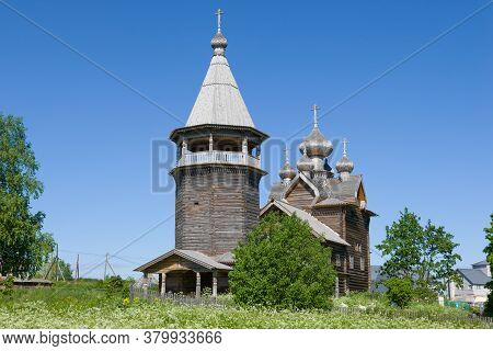 The Old Wooden Church Of Dmitry Solunsky The Myrrh-streaming Close-up On A Sunny June Day. The Villa