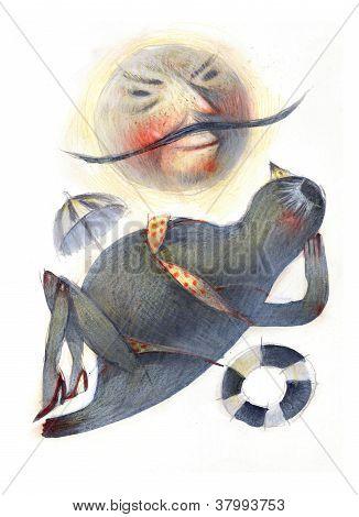 Seal cartoon