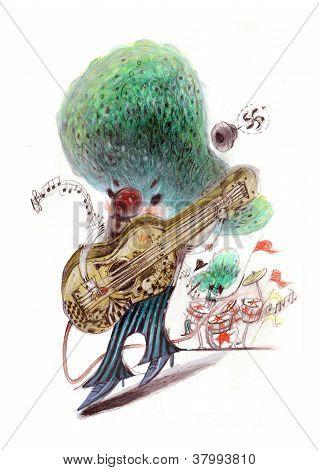 rock guitarist playing