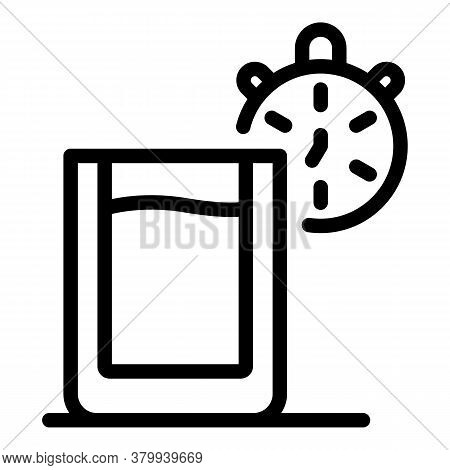 Morning Water Habit Icon. Outline Morning Water Habit Vector Icon For Web Design Isolated On White B