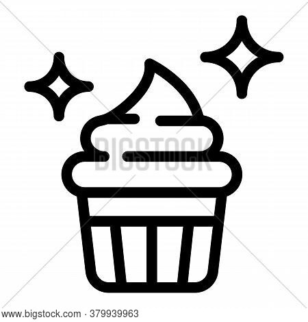 Dessert Food Icon. Outline Dessert Food Vector Icon For Web Design Isolated On White Background