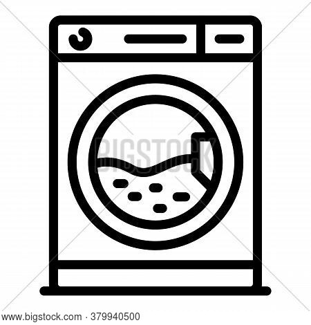 Laundry Machine Icon. Outline Laundry Machine Vector Icon For Web Design Isolated On White Backgroun