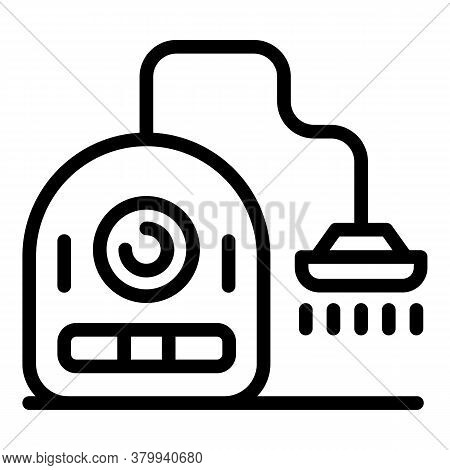 Vacuum Cleaner Device Icon. Outline Vacuum Cleaner Device Vector Icon For Web Design Isolated On Whi