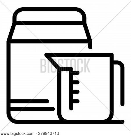 Cleaning Clothes Powder Icon. Outline Cleaning Clothes Powder Vector Icon For Web Design Isolated On