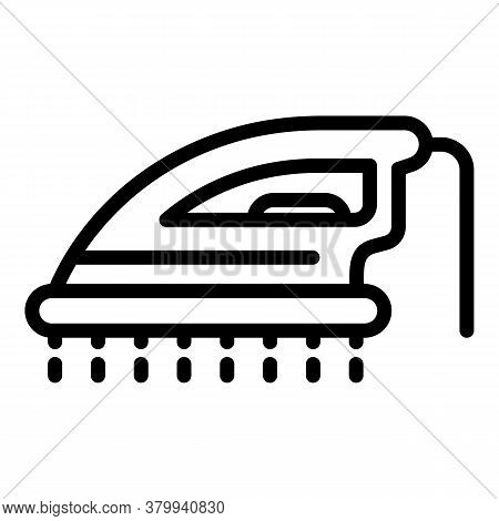 Ironing Icon. Outline Ironing Vector Icon For Web Design Isolated On White Background