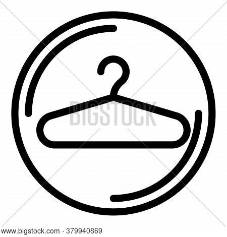Hanger Icon. Outline Hanger Vector Icon For Web Design Isolated On White Background