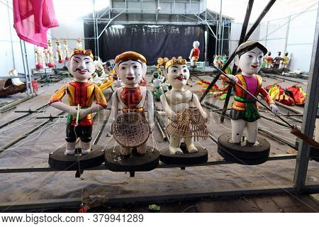Hoi An, Vietnam, February 24, 2020: Some Of The Puppets Of The Hoi An Water Puppet Theater, Vietnam
