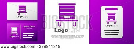 Logotype Hive For Bees Icon Isolated On White Background. Beehive Symbol. Apiary And Beekeeping. Swe