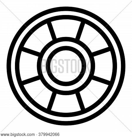 Toy Ring Icon. Outline Toy Ring Vector Icon For Web Design Isolated On White Background
