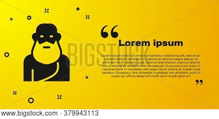 Black Socrates Icon Isolated On Yellow Background. Sokrat Ancient Greek Athenes Ancient Philosophy.