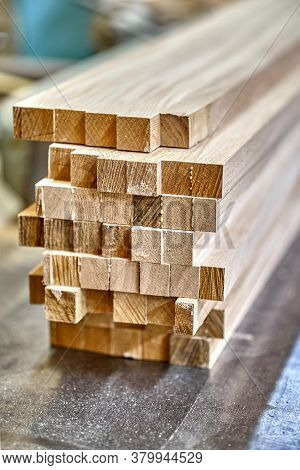 Joinery. Wooden Edge-glued Panels. Wooden Furniture Manufacturing Process. Furniture Manufacture. Cl