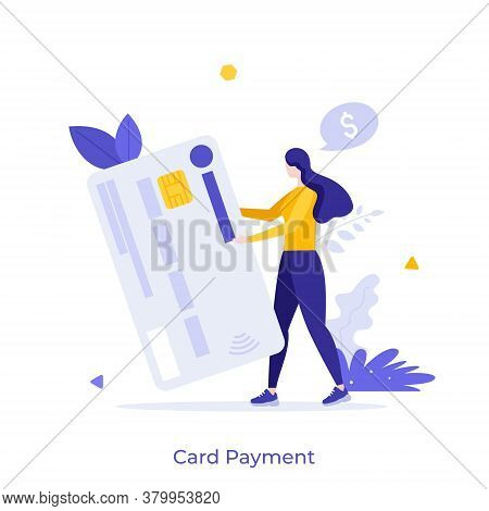 Man Holding Plastic Debit Or Credit Card. Concept Of Service For Secure Electronic Or Wireless Payme