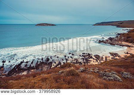 Petrel Cove Beach During Winter, Victor Harbor,  Encounter Bay, South Australia