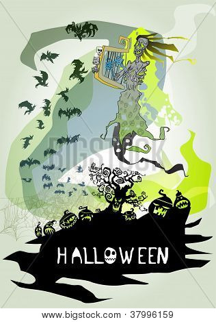 Helloween Vector Card