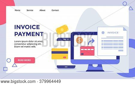 Nvoice Payment Bankcard Dollar Invoice On Display Monitor Computer Campaign For Web Website Home Hom