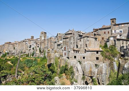 Cityscape. Panoramic view of Vitorchiano. Lazio. Italy. poster