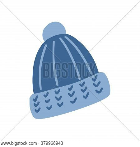 Hat With A Pompom. A Warm Hat For Fall. A Simple, Cute Hand-drawn Drawing. Hygge, A Cozy Home, Comfo