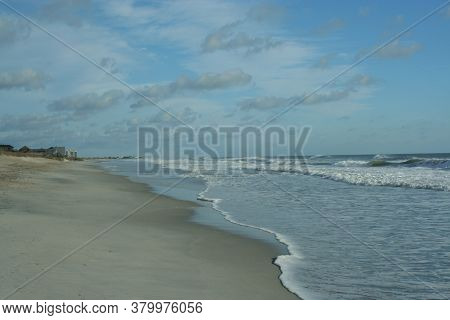 Wrightsville In Winter; The Shoreline Of Wrightsville Beach In The Winter Looks Like A Different Pla