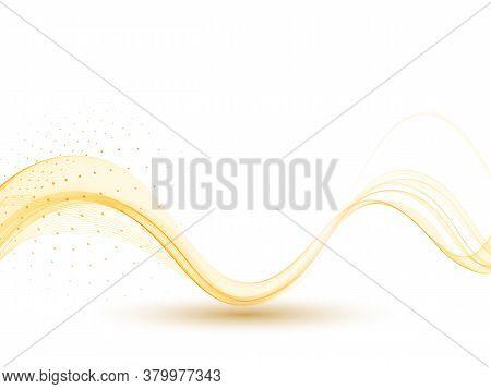 Abstract Orange Wave Wave Orange Flow Color Wave