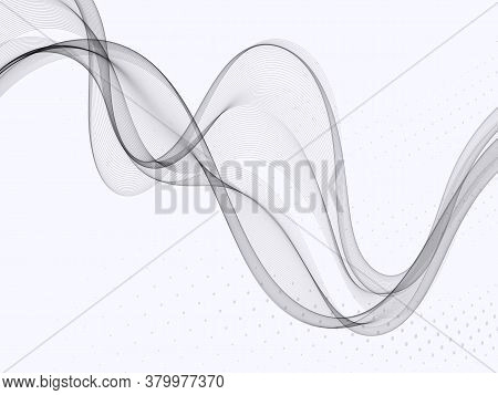 Abstract Gray Wavy Background Gray Wave Flow