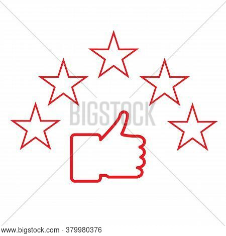 Best Choice Icon On White Background. Excellent Choice Sign. Customer Review Icon. Quality Rating Sy
