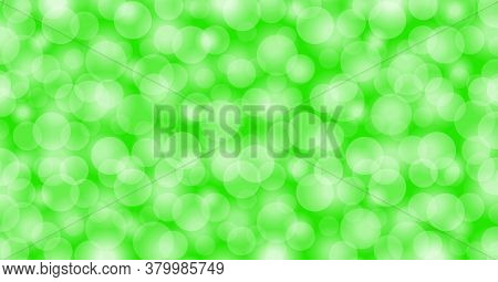 Bokeh Light Green For Background, Blurred Bokeh Bright Green Beautiful With Shiny Light
