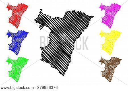Bas-rhin Department (france, French Republic, Grand Est Region) Map Vector Illustration, Scribble Sk