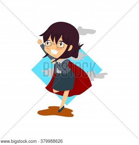 Business Woman Superhero Success Concept Illustration Vector