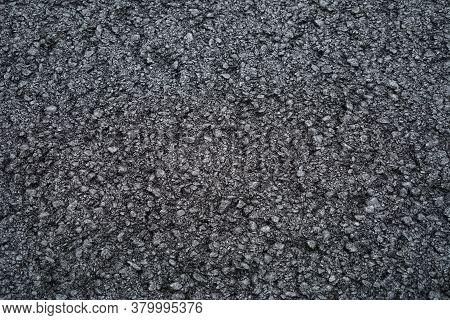 Close Up On New Paved Road Surface Asphalt Background