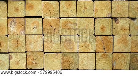 Wood Pattern Of Stacking Square Wood Texture