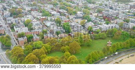 Aerial View Of Residential Area Of Boston