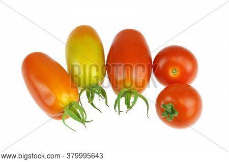 Cute Fresh Tomato Isolated On White Background