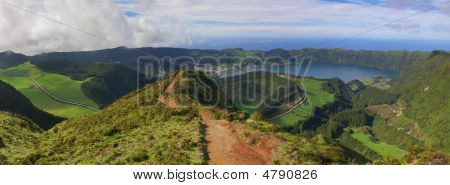 Path To A Viewpoint At Sete Cidades, San Miguel, Azores