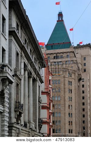 Old buildings in Waitan of Shanghai
