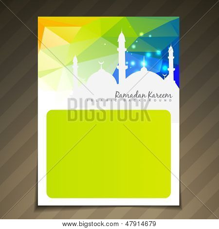 ramadan festival template vector background poster