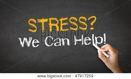 Estresse podemos ajudar ilustração do giz
