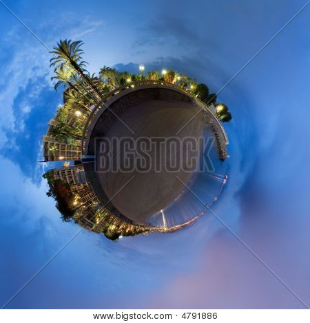 Spherical Panorama Of The Beautiful Cannes In France