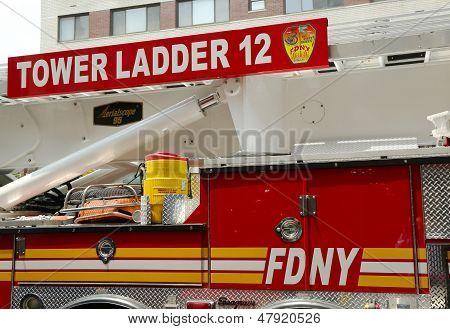 FDNY Tower Ladder 12 truck in Manhattan
