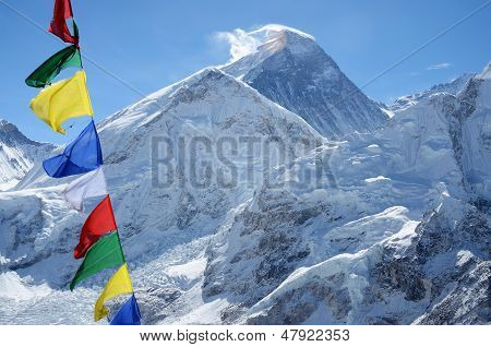 Summit Of Mount Everest Or Chomolungma - Highest Mountain In The World, View From Kala Patthar,nepal