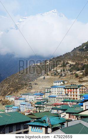 Namche Bazaar Village View - Capital Of Sherpa People ,sagarmatha National Park, Nepal