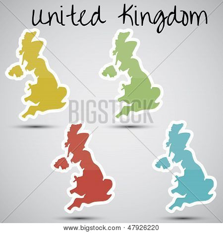 stickers in form of Great Britain