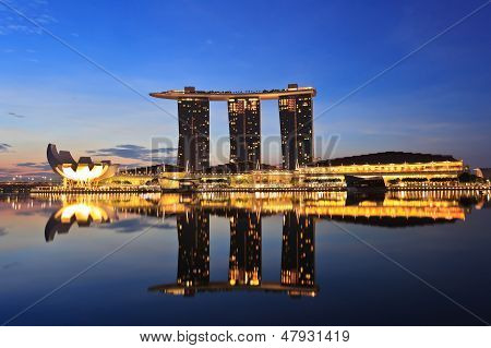 ightscape of Singapore Marina Bay Sand