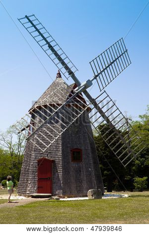 Eastham Windmill In Cape Cod