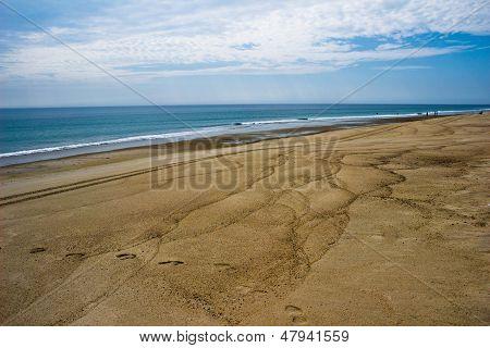 Sand Patterns On A Cape Cod Beach