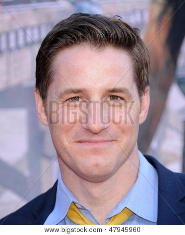 LOS ANGELES - JUN 22:  Sam Jaeger arrives to the 'The Lone Ranger' Hollywood Premiere  on June 22, 2013 in Hollywood, CA