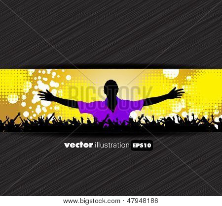 Discoteque music background. Vector